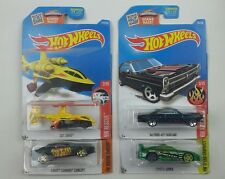Hot Wheels Lot of 4 '66 Ford 427 Fairlane Sky Knife Camaro Concept Toyota Supra