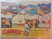 Camel Cigarette Ad: Floyd Carlson Helicopter Pilot Half or Tabloid Page