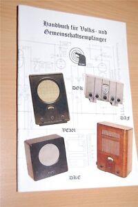 Volksempfänger Gemeinschaftsempfänger VE 301 DKE DAF 1011 uvm Werkstattbuch