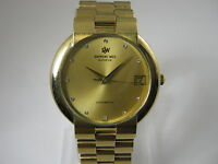 VINTAGE RAYMOND WEIL GENEVE 2816 AUTOMATIC GOLD PLATED DATE MEN'S WATCH 80'S