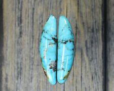 Turquoise cabochon Kingman  mine cab Earring set  Unique  ,F-112