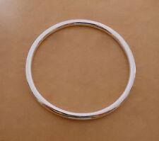 925 Sterlingsilber Sklaven Rund Armreif Armband 70mm Durchmesser & 5mm Dicke