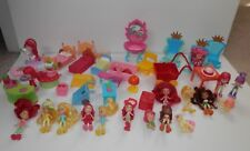 """Strawberry Shortcake Lot 2"""" Doll furniture  Clothing, Accessory Lot of 46 pieces"""