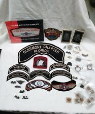 Estate Collection Of Harley Davidson Patches, Pins And Specialty Pins