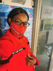 lot 10 Masques securite incendie SSIAP  lavable et réutilisable (certifié AFNOR)