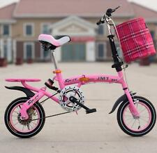 "12"" Size Single Speed Folding Road Bicycle Children's Mini Foldable Bike 4 color"