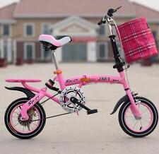 "12"" Size Single Speed Folding Road Bicycle Children's Mini Foldable Bike 4 color"