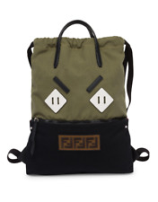 100 Authentic Fendi Men Angry Eyes Green Backpack Tote Bag 35be613627