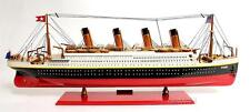 """""""FULLY ASSEMBLED"""" RMS TITANIC PAINTED Handcrafted Wooden Ship Model"""