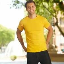 Fruit of the Loom No Pattern Regular Fitted T-Shirts for Men