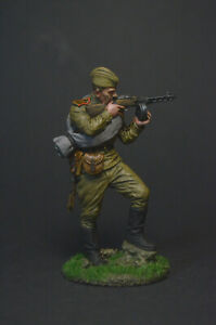 Tin soldier figure Red Army infantry machine gunner, 1943-45 the USSR 54 mm