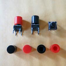 100x Tastkappe Kappe Deckel Knopf cap f 6x6mm buttonTaster Druckschalter ID=3.2
