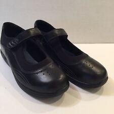 Drew Women's 9.5 M Rose Solid Black Mary Jane Shoes Diabetics Comfort Hook Loop