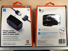 Griffin PowerBlock Plus Wall Charger w/ 30Pin Cable for iPad 1,2,3 iPhone 3G,4S