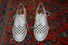JEFFREY CAMPBELL NOVAK-CUT WHITE LEATHER OXFORDS MAN TAILORED SHOES SIZE 7.5