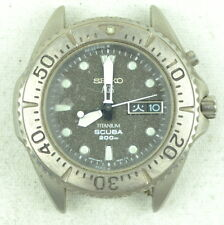 Vintage Seiko AGS Titanium Scuba Watch Needs Repair 5M43-0B70 Rotor Sticks