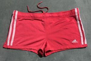 Womens Adidas Athletic Mesh Shorts Pink White Size Medium! Ships fast!