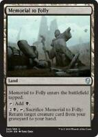 4x Memorial to Folly - MTG Dominaria DOM - Mint/NM Pack Fresh