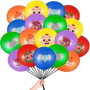 "COCOMELON 6 pcs 12"" Latex Birthday Party Fun DECOR AU STOCK balloon"