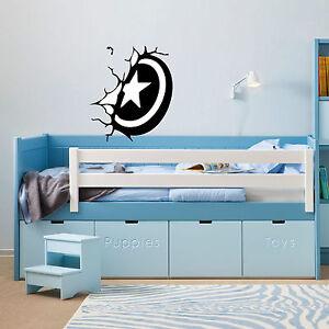 captain america shield   vinyl wall sticker  bedroom office van car  decal
