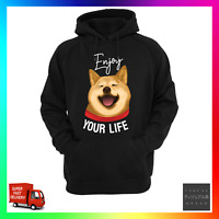 Enjoy Your Life Hoodie Hoody Dog Doge Pup Puppy Meme Rescue Adoption Funny Cute