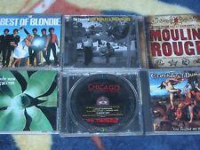lot of 6 rock pop CD's Blondie Bob Marley Depeche Mode Moulin Rouge