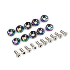 Neo Chrome JDM Billet Aluminum Fender Bumper Washer Bolt Engine Bay Dress Up Kit