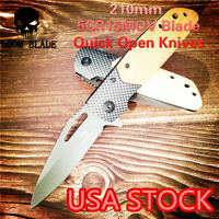Quick Open Knives Handmade Camping Folding Tactical Knife Hunting Survival Knive