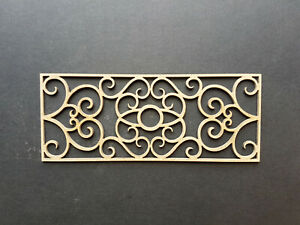 12th Scale Wrought Iron effect railing/fencing (Design 001a)