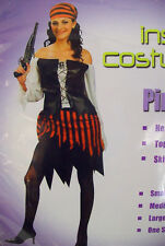 Ladies Pirate of Caribbean Jack Sparrow Women's Costume Fancy Dress up D2003A