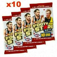 10 x 2019 AFL SELECT FOOTY STARS SEALED PACKS 100 TRADING CARDS RANDOM PICK