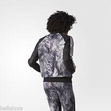 Adidas ST MORITZ FUR PRINT SUPER STAR GIRL Jacket Track Top firebird~Womens sz L
