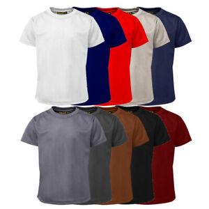 Girls Boys Plain Tee(T-SHIRT)shirts Kids Crew Neck School Uniform PE Top Vest