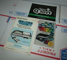 Coleco Vision Booklet Lot Console Owners Manual & Mini Catalog & Qbert Manual