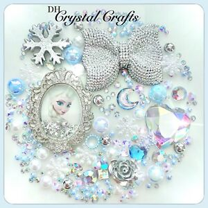 Disney Frozen Elsa Theme Cabochon Gem & pearls flatbacks for decoden crafts #7