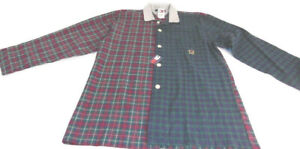 Tommy Hilfiger Nightshirt Green Red Plaid Long Sleeve Sleepwear Men Size Large