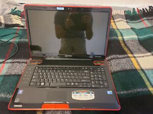 Used Toshiba Qosmio x505 18.4 inch laptop for everyday use or parts.