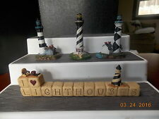I Love Lighthouses figure with 3 lighthouses