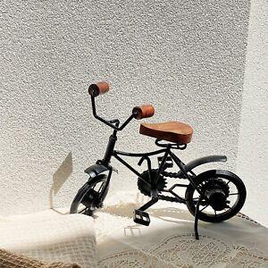 Vintage Metal Bike Bicycle Retro Ornament Statue Home Garden Decor Black&Timber