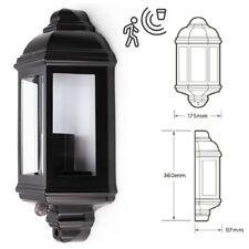 HiSpec Caspian E27 LED Wall Porch Outdoor PIR Motion Sensor Half Lantern Light