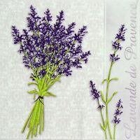 4 Single Table Party Paper Napkins for Decoupage Decopatch Lavender Provence