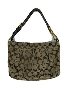 Coach Brown Tan Logo Patterned Small Purse No F0871-12918