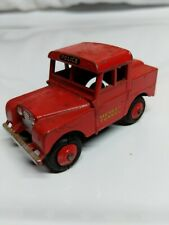 DINKY TOYS MERSEY TUNNEL POLICE LAND ROVER #255 RED MADE IN ENGLAND