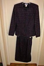 Vintage Pendleton Wool Matched Blue Jacket & Skirt Women`s 6 Medium Made in Usa