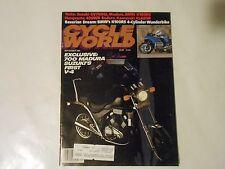 SEPTEMBER 1984 CYCLE WORLD MAGAZINE,SUZUKI V-4 MADURA COVER,BMW K100RS,HUSKY 400