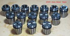 ER25 15Pcs Spring Collet Set For CNC milling lathe tool Engraving machine New
