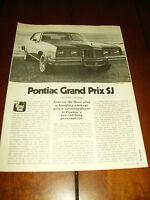 1979 PONTAIC GRAND PRIX   ***ORIGINAL ARTICLE / ROAD TEST***