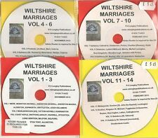 Wiltshire Marriages Volume 1-14 CD