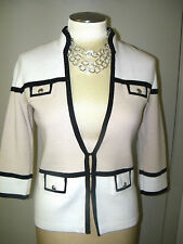 WHITE HOUSE BLACK MARKET sz XS-KNIT COLORBLOCK SWEATER JACKET-BEAUTIFUL-NWT