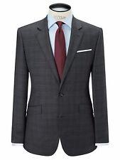 John Lewis Grey Super 100s Wool Sharkskin Check Suit Jacket Size 42R £140 BNWT